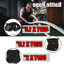 """1.5/2"""" 30/40/50' Heavy Battle Ropes Exercise Training Rope F"""