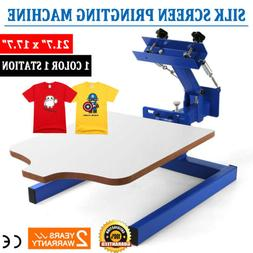 1 Color 1 Station Silk Screen Printing Machine Press Kit T-S
