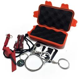1 Set Outdoor Emergency Equipment SOS Kit First Aid Box Fiel