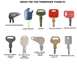 10 Keys Heavy Equipment / Construction Ignition Key Set Cate