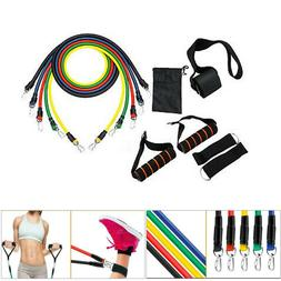 11pcs/set Pull Rope Exercise Resistance Bands Home Gym Equip