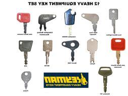 12 Heavy Equipment Keys Set Case CAT JD Komatsu The Basics G