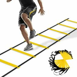 12 Rung Speed Agility Exercise Ladder Soccer Football Sports