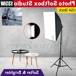 135W Photography Soft Box Lighting Kit Stand Continuous Soft
