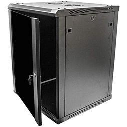 Navepoint 15U Deluxe IT Wallmount Cabinet Enclosure 19-Inch