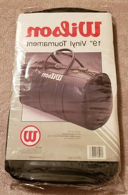 "Wilson 19"" Vinyl Tournament Equipment Sports Gym Duffle Bag"