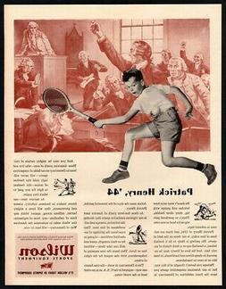1944 WILSON Sports Equipment - Boy Playing Tennis - Patrick