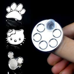 1Pc Cute Mini Nail Art Metal Finger Ring Palette Mixing Acry
