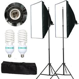 2 PCS Photography Lighting Softbox Stand Photo Equipment Sof