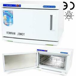 2 in 1 Hot UV Sterilizer Towel Warmer Cabinet Spa Beauty Sal