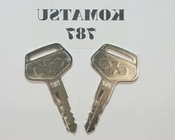 Komatsu Keys Heavy Equipment Key # 787  will fit most of Ko