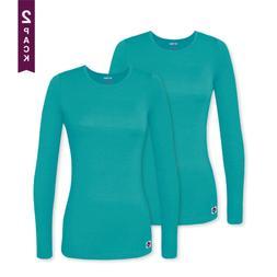 Sivvan 2 Pack Women's Comfort Long Sleeve T-Shirt/Underscr