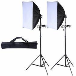 2 PCS Lighting Softbox Stand Photography Photo Equipment Sof