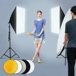 2* Photography Lighting Softbox Stand Photo Equipment Soft S