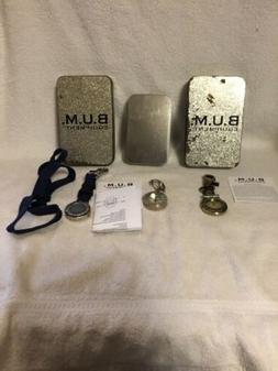2 BUM Equipment Pocket Watch Quartz with Compass & other wat