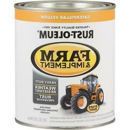2 Qt  Caterpillar Yellow RustOleum Farm Equipment Gloss Enam