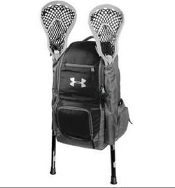 UNDER ARMOUR 2 STICK LACROSSE EQUIPMENT GEAR BACKPACK BLACK/