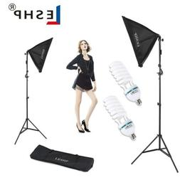 2 X Photography Lighting Softbox Stand Photo Equipment Soft