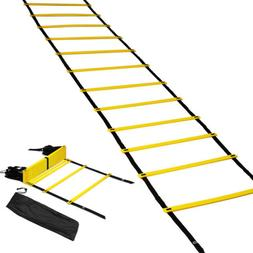 20 Rungs Speed Agility Ladder Soccer Football Sports Trainin