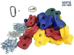 STEM Goods 20 Premium Large Textured Kids Rock Climbing Hold