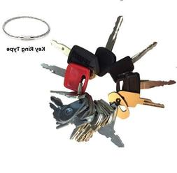 21 Keys Heavy Equipment Key Set / Construction Ignition Keys