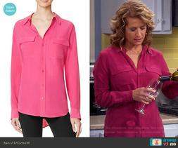 $214 NWT Equipment Slim Signature Cosmopolitan Silk Blouse S