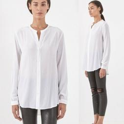 $218 NWT Equipment Faye Bright White Silk Blouse Sz S ~ So C