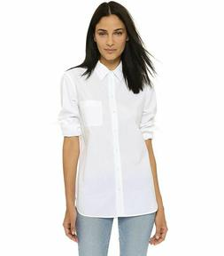 $218 NWT Equipment White Kenton Cotton Blouse Sz S ~ Must Ha