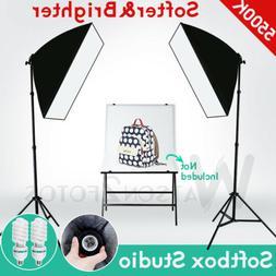 2X Photo Light Softbox Stand Kit Photography Equipment Light