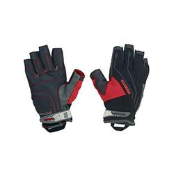 Harken Sport Men's 3/4 Finger Reflex Gloves, Black, X-small