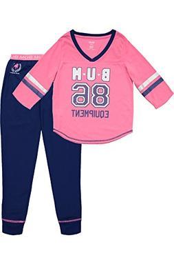 B.U.M Equipment Girls 3/4 Sleeve Jersey Shirt & Pants Pajama