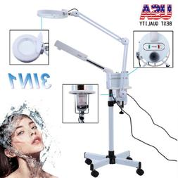 3 In 1 Pro Facial Steamer + 5x Magnifying Lamp Ozone Salon S