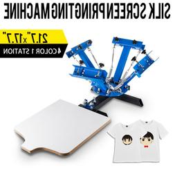 4 Color 1 Station Silk Screen Printing Pressing Machine Prin