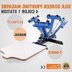 4 Color 1 Station Silk Screen Printing Press Pressing Equipm