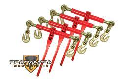 """4 Ratchet Binders 5/16"""" - 3/8"""" Boomer Chain Equipment Tiedow"""