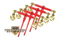 "4 Ratchet Load Binders 3/8"" - 1/2"" Boomer Chain Equipment Ti"