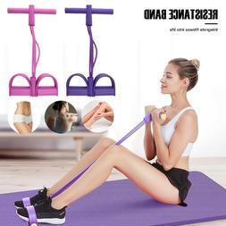 4-Tubes Yoga Equipment Sit-up Fitness Foot Pedal Pull Rope R