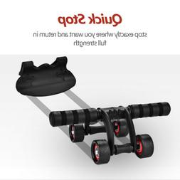 4-Wheel AB Roller Wheel Abs Trainer Fitness Equipment Home W