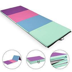 Giantex 4'x10'x2 Gymnastics Mat Folding Panel Thick Gym Fitn