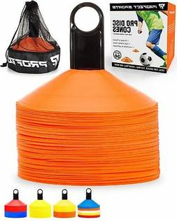 50 Orange Disc Cone Soccer Football Field Training Equipment