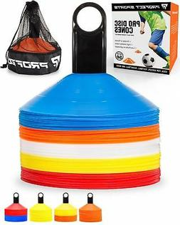 50 Multi-color Disc Cone Soccer Football Field Training Equi
