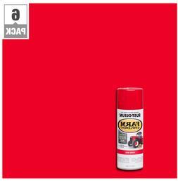 6 Pk 12 oz Farm Equipment Gloss Enamel Spray Paint Aerosol C