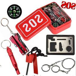 7 in 1 SOS Emergency Tactical Survival Equipment Kit Outdoor