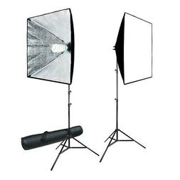 Lusana Studio 700W Photography Softbox Light Lighting Kit Ph