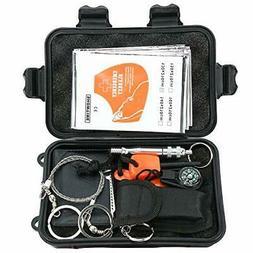 7in1 Emergency Outdoor Gear Survival Equipment Kit Tactical