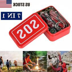 7in1 SOS Emergency Tactical Survival Equipment Kit Outdoor G