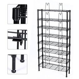 Topeakmart 8 Tier Adjustable Metal Media Storage Rack 432 DV