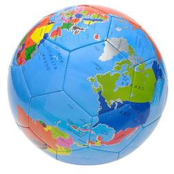 "9"" Globe Print Colorful Soccer Ball Sports Equipment Supplie"