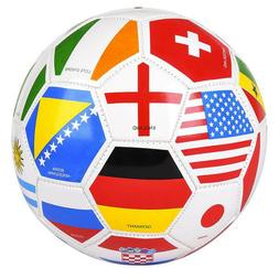 "9"" International Flag Soccer Ball Sports Equipment Supplies"