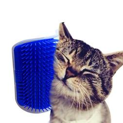 Cat Groomer Pet Brush Corner Massage Comb Catnip Animal Acce